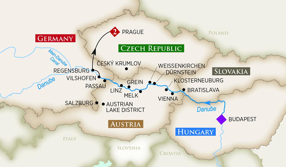 AmaWaterways Amalea Map