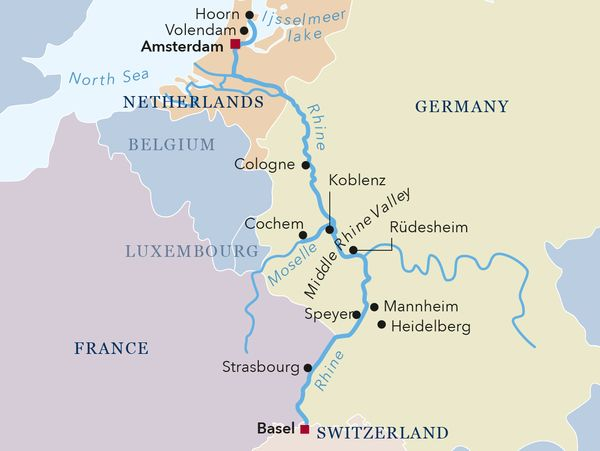 Amadeus River Cruises Silver II map