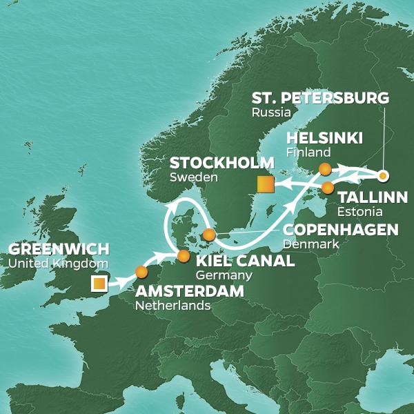 Azamara Journey June 11 Map