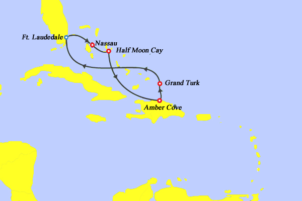 Carnival Cruise Lines Carnival Conquest Map
