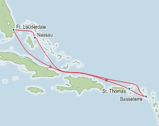 Royal Caribbean Allure of the Seas Map
