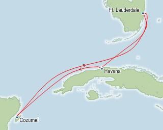 Havana and Cozumel