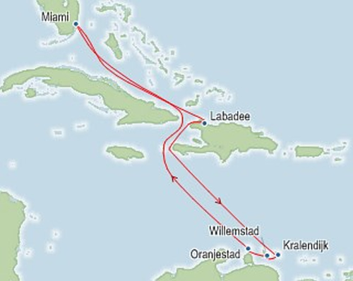 Royal Caribbean SouthernCaribbean Itinerary Map