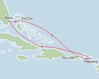 Royal Caribbean Symphony of the Seas Map
