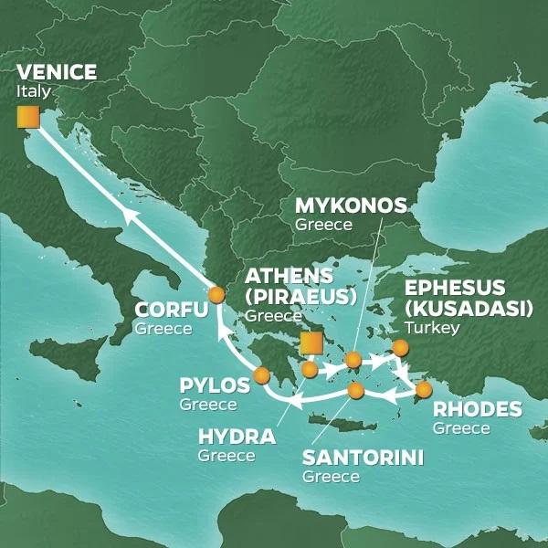 Azamara Journey Itinerary Map July 9, 2022