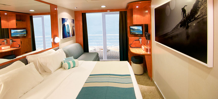 Mid-Ship Balcony Stateroom, BB