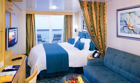 Ocean View Stateroom with Balcony, 1D